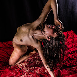 Over Clarity by Imagesby Jake - Nudes & Boudoir Artistic Nude ( sand, red, sharp, sandy, light )