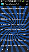 Screenshot of Psychedelic Radio Stations