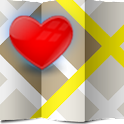 I Love - Love Map,Love locator icon
