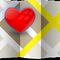 I Love - Love Map,Love locator icon