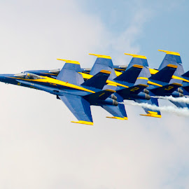 The Blue Angles by Rajeev Krishnan - Transportation Airplanes ( airplane, navy, air show, airshow, blue angels )