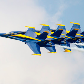 The Blue Angles by Rajeev Krishnan - Transportation Airplanes ( airplane, navy, air show, airshow, blue angels, aircraft, helicoptors,  )