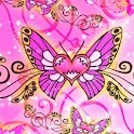 Amazing Butterfly pink 480x800 icon