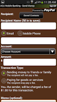 Screenshot of ACU Mobile Banking