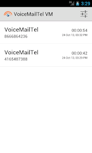 VoiceMailTel Voicemail Manager - screenshot