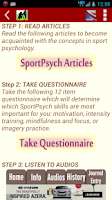 Screenshot of SportPsych Performance Coach