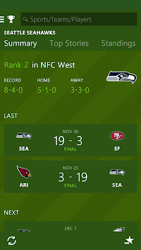 MSN Sports - Scores & Schedule APK screenshot thumbnail 5