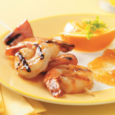 Grilled Shrimp with Apricot Sauce