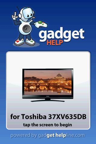 Toshiba 37XV635DB-Gadget Help