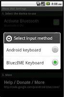 Screenshot of Bluez IME