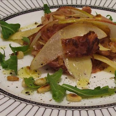 Shavings of Country Ham With Parmesan, Pears and Pine Nuts