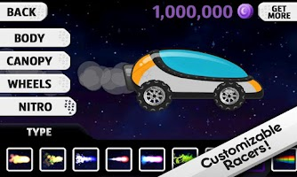 Screenshot of Lunar Racer