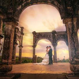 Love In Beautiful Place by Amin Basyir Supatra - Wedding Bride & Groom ( love, bali, prewedding, wedding, sunrise )
