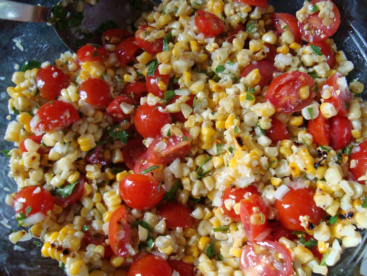 Heirloom Tomato and Grilled Corn Salad Recipe | Yummly