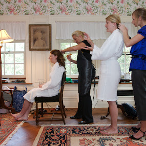by Alan  Weiner - Wedding Getting Ready