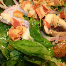 Warm Spinach Salad With Pancetta and Gorgonzola Dressing