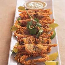 Cornmeal-Crusted Soft-Shelled Crabs with Cilantro-Lime Tartar Sauce