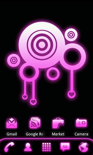 粉紅色的輝光圍棋發射前的主題