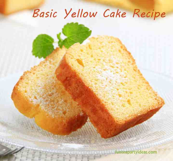 Basic Yellow Cake Recipe | Yummly