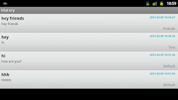 Screenshot of Bonrix Push SMS Alert - Tablet