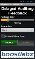 Screenshot of DAF Delayed Auditory Feedback