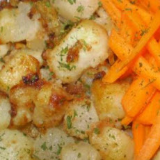 Pan Fried Turnips and Potatoes