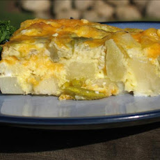 Cheesy Potato and Green Chili Breakfast Casserole
