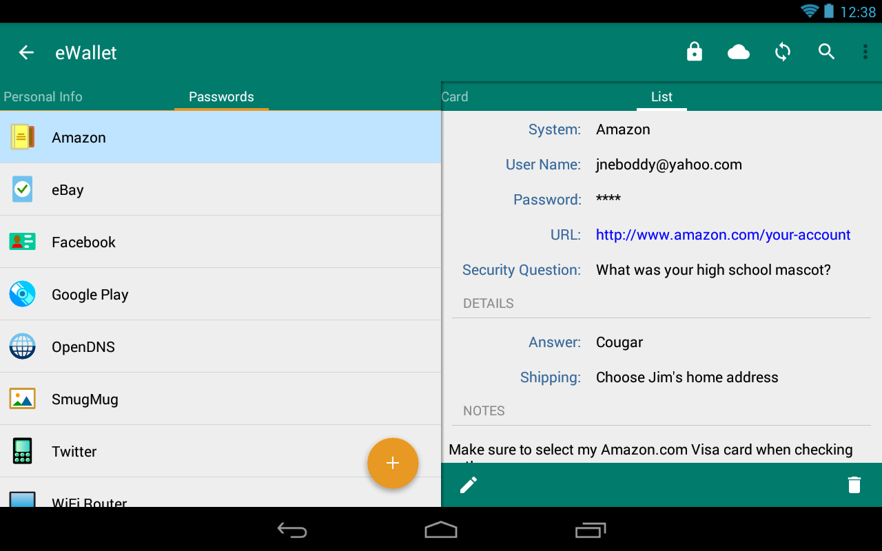 eWallet - Password Manager Screenshot 19
