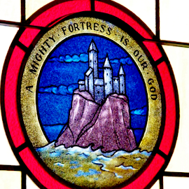 Fortress by Leah Zisserson - Buildings & Architecture Places of Worship ( red, church, fortress, glass, stained glass,  )