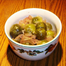 Make-ahead Glazed Sprouts & Onions