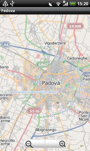 Padova Street Map