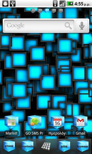 Blue Cube Theme GO Launcher EX