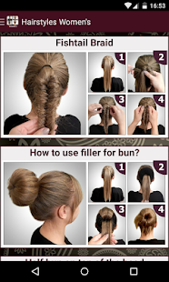 Womens Hairstyles tutorial - screenshot