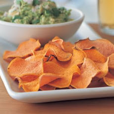 Guacamole and Sweet Potato Chips