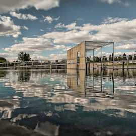 Espelho D'Água by Manuel Costa - Buildings & Architecture Other Exteriors ( water, clouds, reflection, hdr,  )