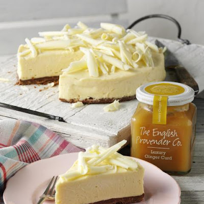 White Chocolate and Ginger Curd Cheesecake