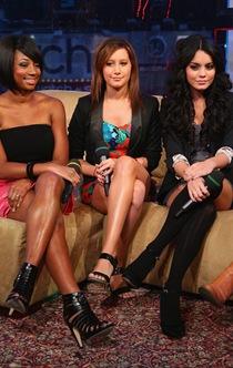 Monique Coleman, Ashlet Tisdale and Vanessa Hudgens visit MTV's