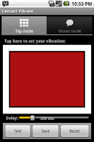 Screenshot of Contact Vibrate