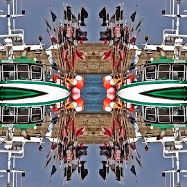 Boat pattern by Michael Moore - Digital Art Abstract