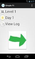 Screenshot of Simple Fit Tracker