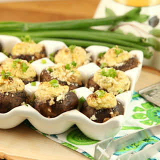 Jalapeno Popper Stuffed Mushrooms (Low Calorie, Low Fat)