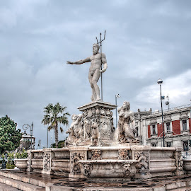 Neptune by Maurizio Tuccio - Buildings & Architecture Statues & Monuments ( statue, hdr, fountain, monument, city )
