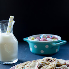 Maple Malted Chocolate Chip Robin Egg Cookies