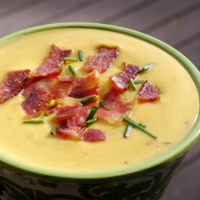 Butternut-Boursin-Bacon Soup