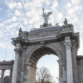 Princes' Gates by Sue Connor - Buildings & Architecture Statues & Monuments ( toronto, gates, toronto ontario, historic, history, landmark, princes' gates, landmarks, prince, monument, historical, c.n.e., canadian national exhibition,  )