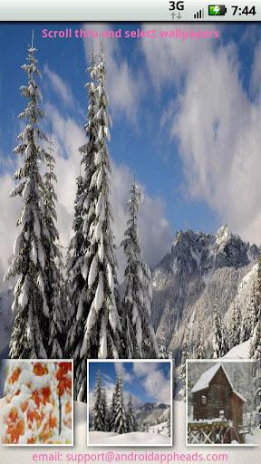 【免費媒體與影片App】冬季壁紙-APP點子