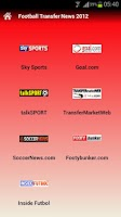 Screenshot of Football Transfer News 2012