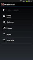 Screenshot of M64 emulator
