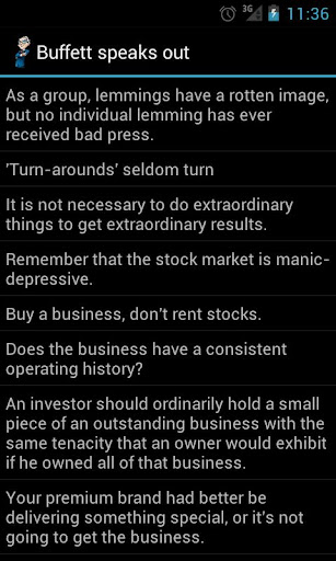 Buffett Speaks and Shakes Out