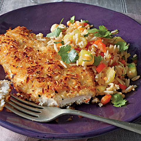 Coconut Chicken with Pineapple Fried Rice